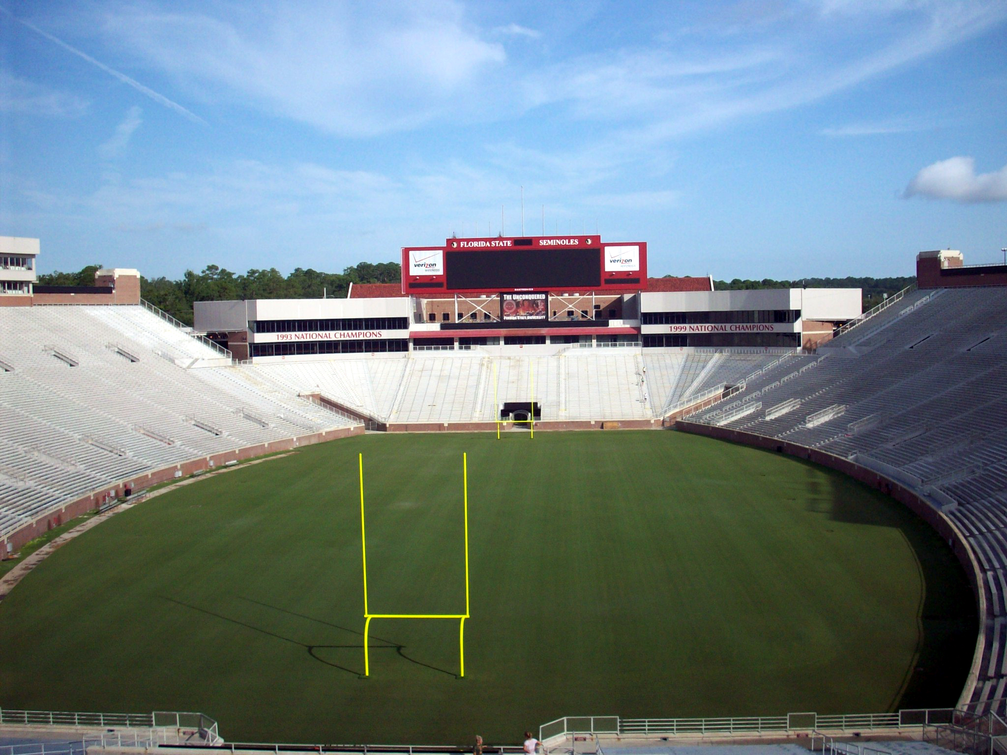 View of North End Zone Screen During Construction
