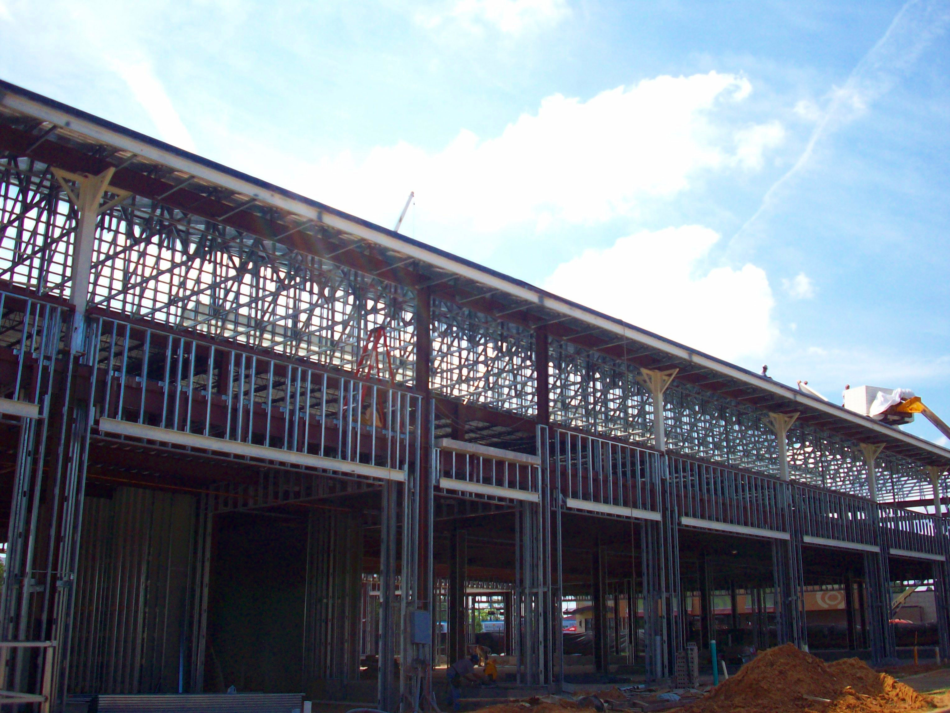 Exterior of First Floor During Construction