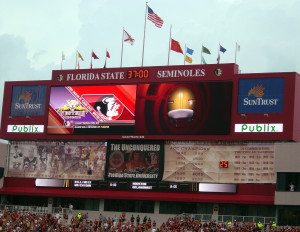 FSU Doak Campbell Stadium JumboTron & ProAd Video Screen Supports